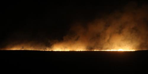 Large Prairie Fire sparked north of Martin